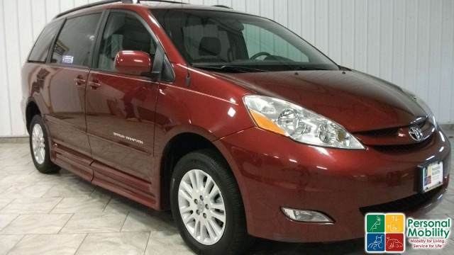 2008 Toyota Sienna Stock 8s116288 Wheelchair Van For Personal Mobility